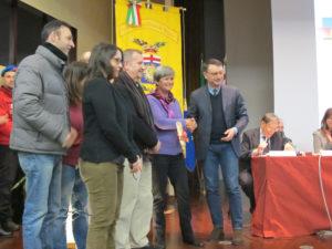 La delegazione di Alfabeti che ha ritirato il premio Panettone d'Oro 2015