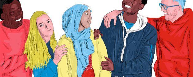 giovani contro la discriminazione razziale